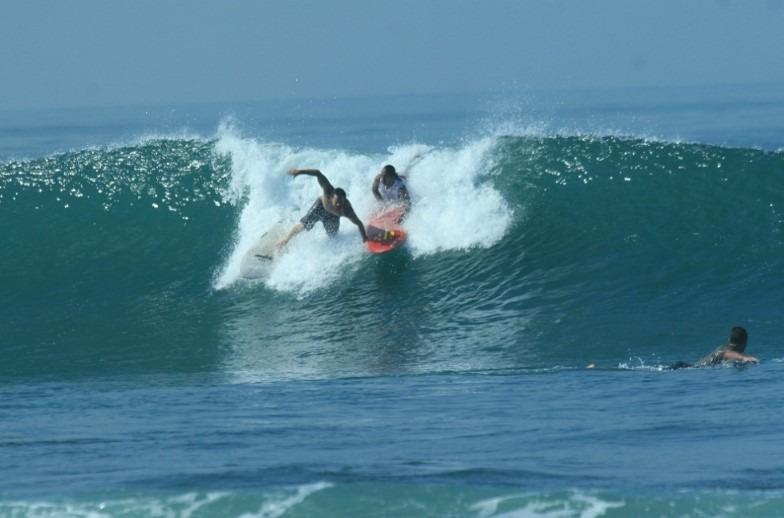 Surfing Canggu Beach