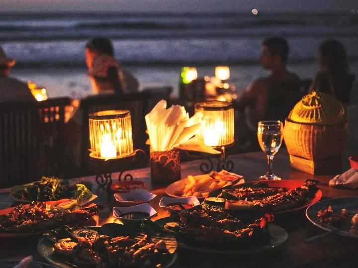 cafe bali; Jimbaran Seafood Dinner