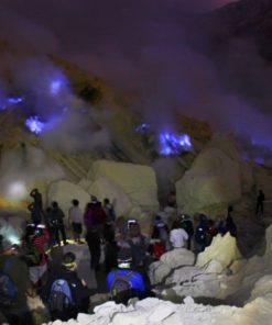 Blue Fire in Mount Ijen