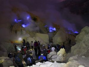 Blue Fire in Mount Ijen