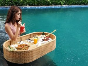 nusa dua restaurants; Floating Breakfast/Lunch at Kekeb Restaurant