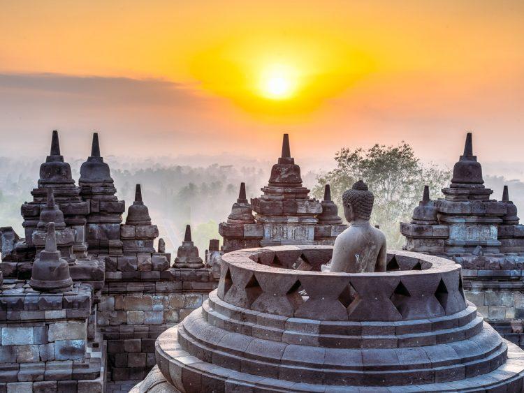 Borobudur Sonnenaufgangs
