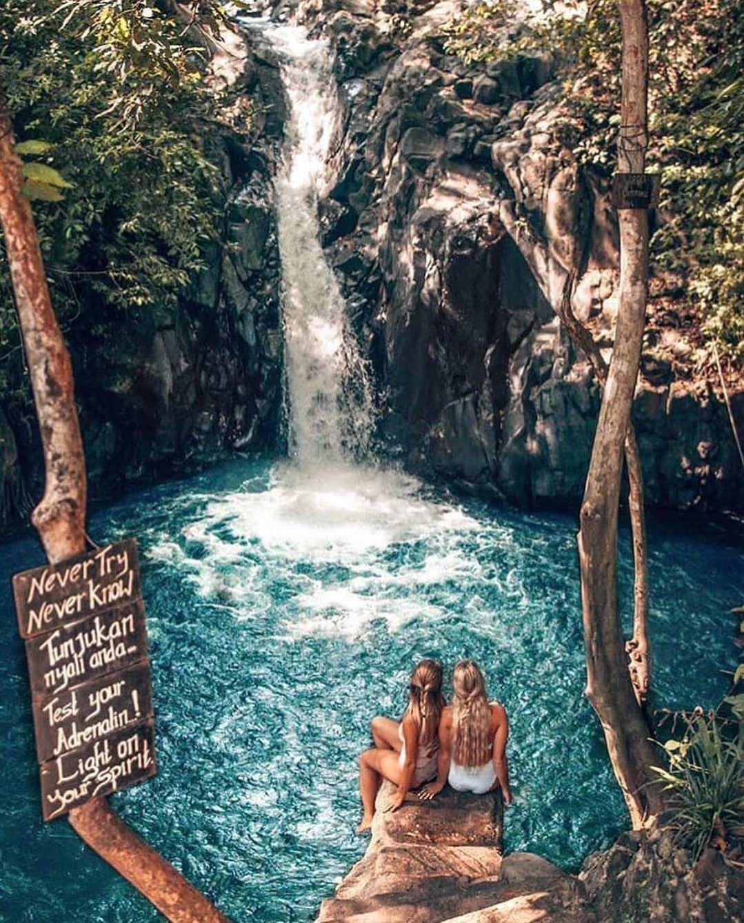Waterfalls in Bali; Aling-Aling Waterfall