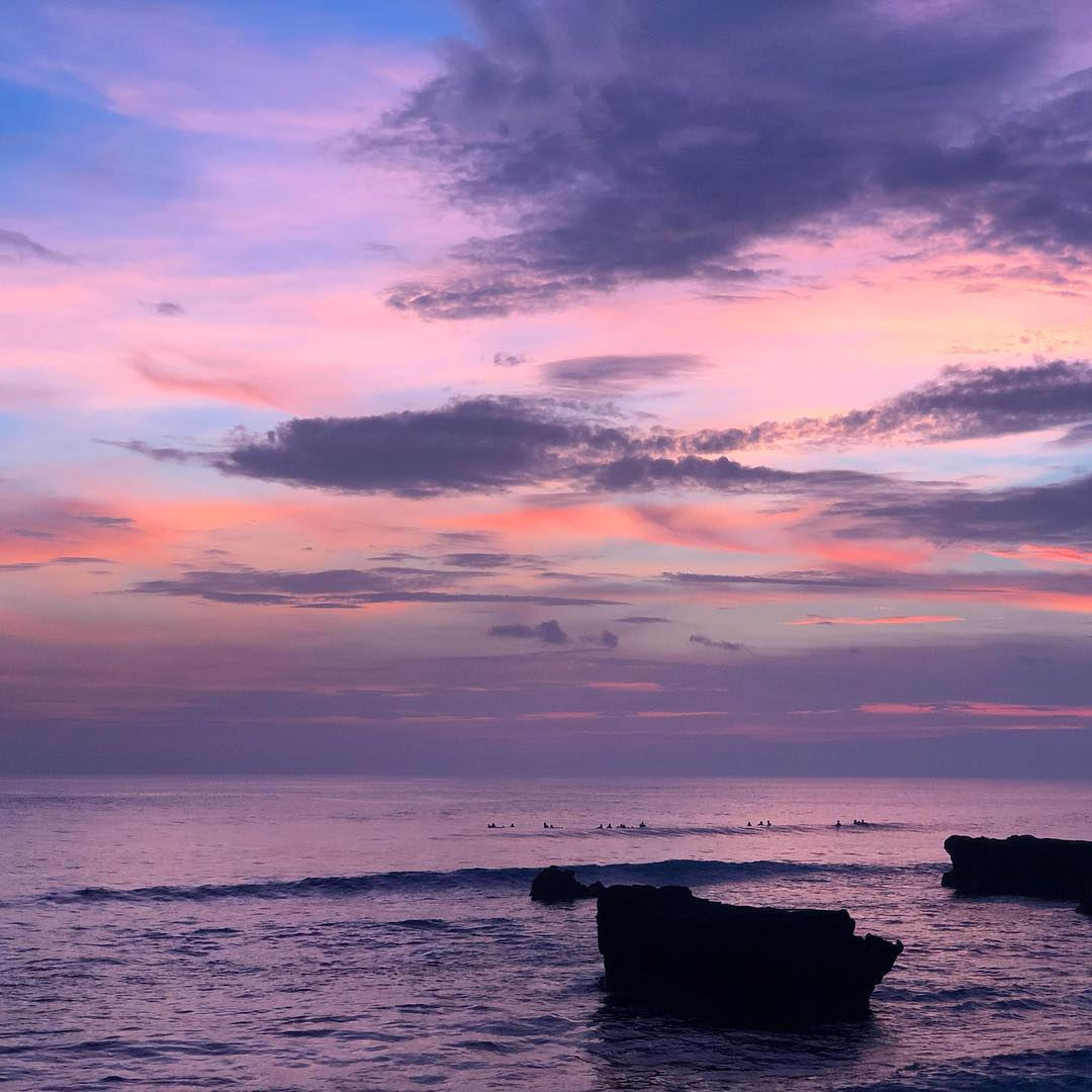 Sunset in Bali; Echo Beach