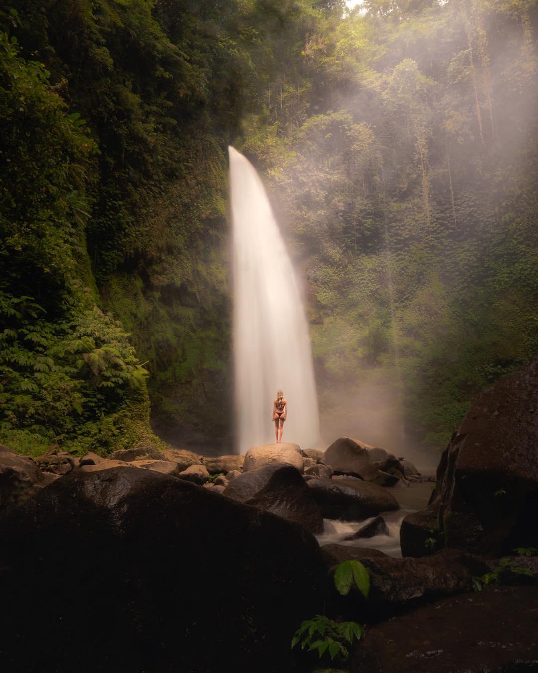 Waterfalls in Bali; NungNung Waterfall