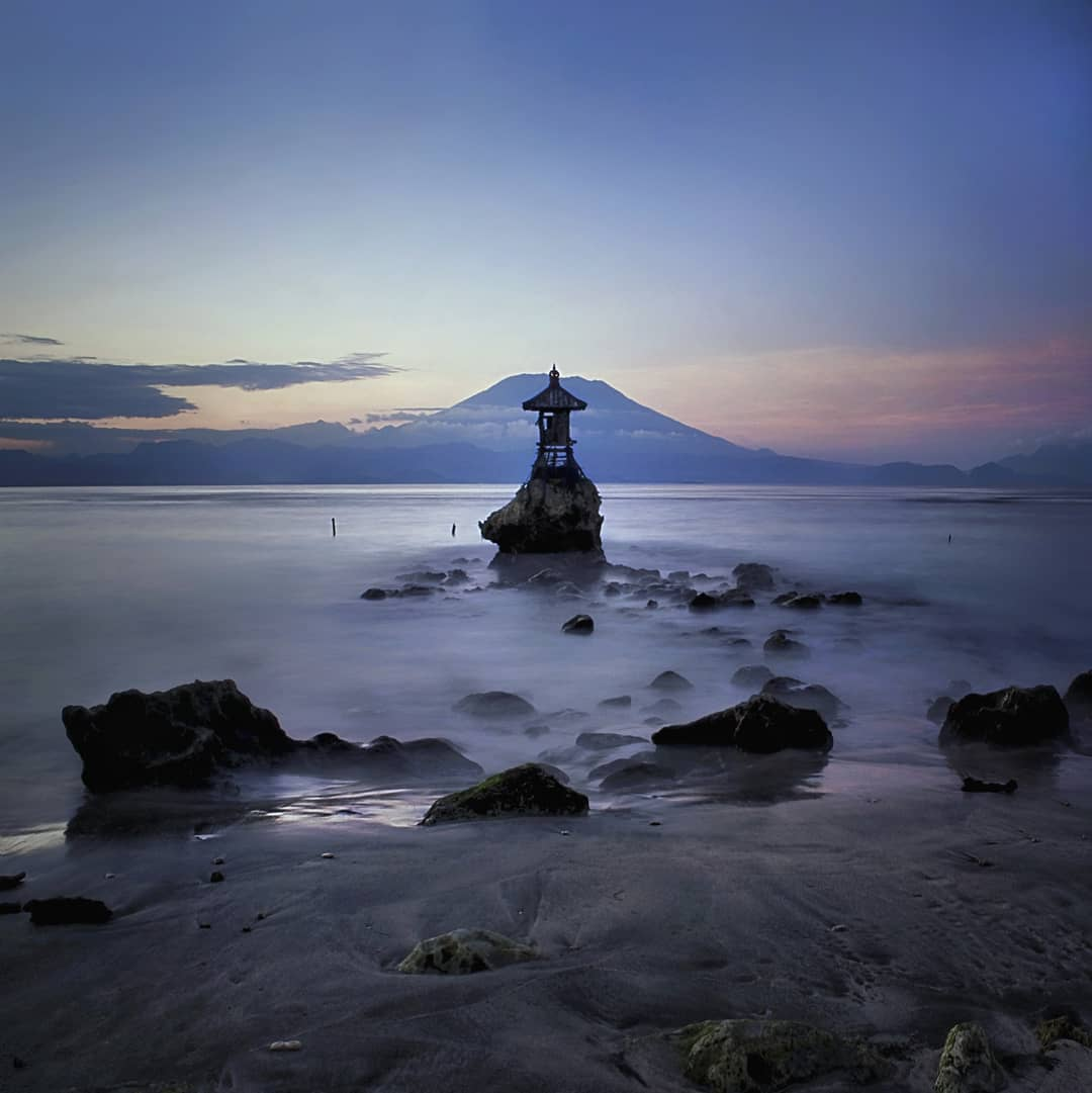 Sunset in Bali; Pura Segara Toya Nusa Penida
