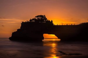 Sunset in Bali; Tanah Lot