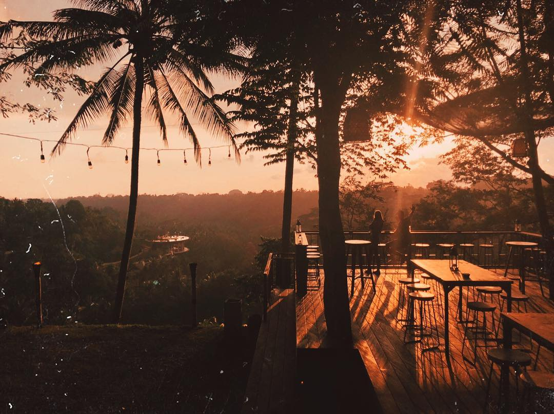 Sunset in Bali; The Sayan House