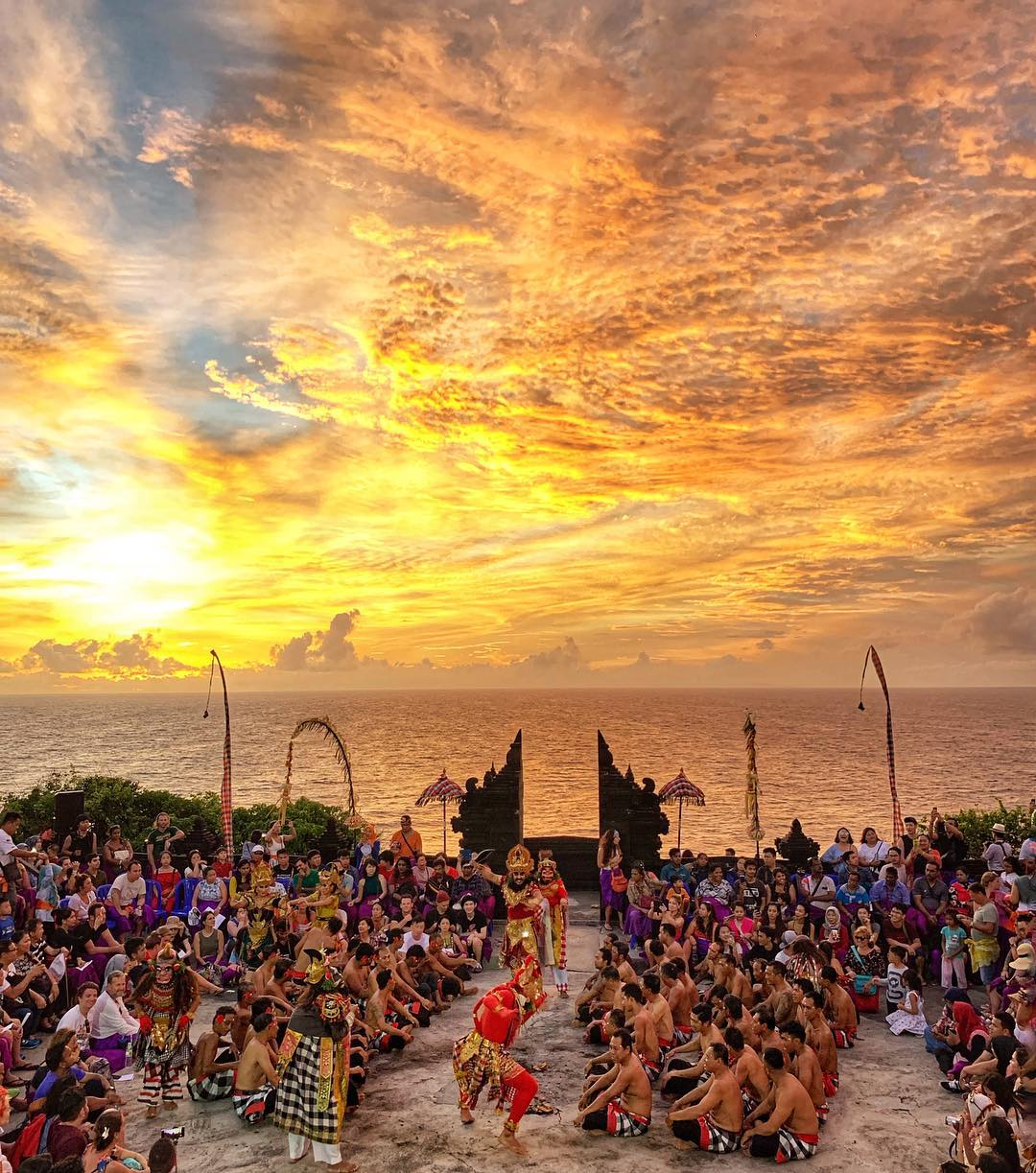 Sunset in Bali; Uluwatu Temple