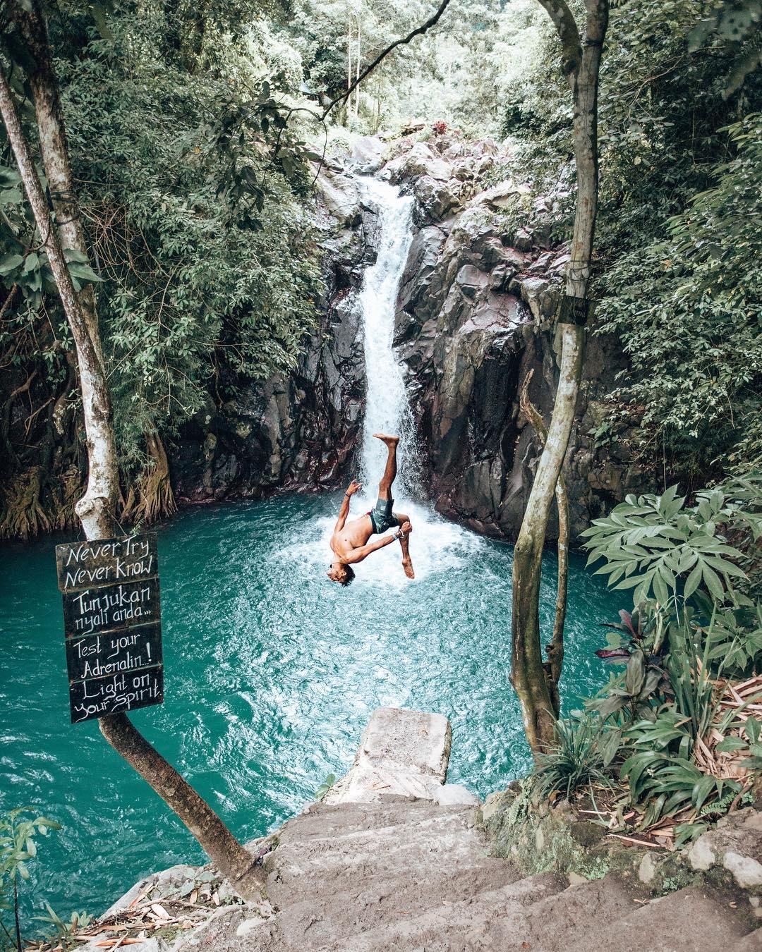 Activities in Bali; Aling Aling Waterfalls