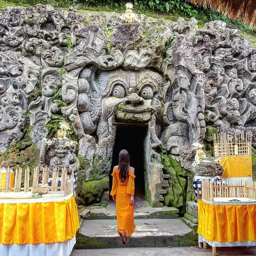 Places to See in Bali; Goa Gajah