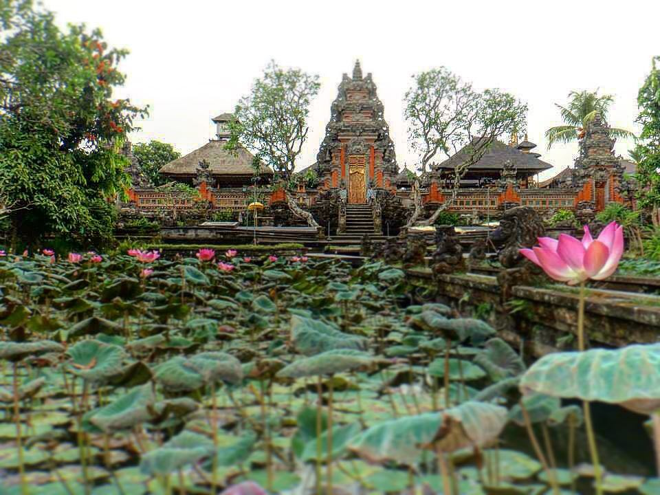 Places to See in Bali; Taman Saraswati Temple