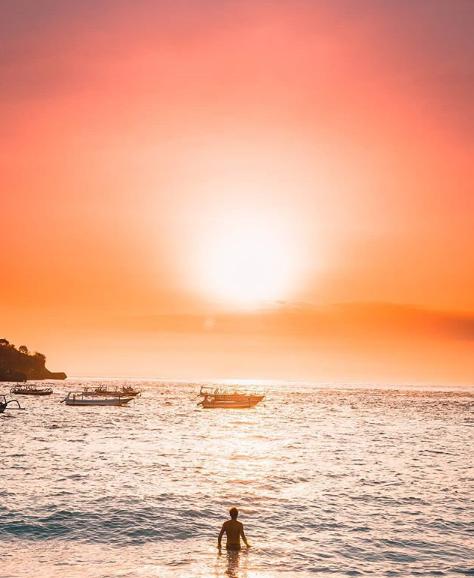 Sunset in Jimbaran Bali