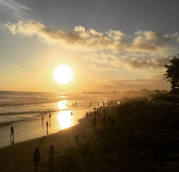 Sunset in Kuta Bali