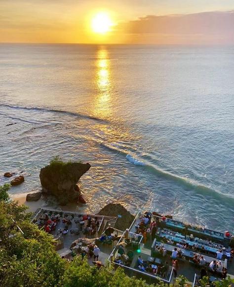 Sunset in Rock Bar Bali
