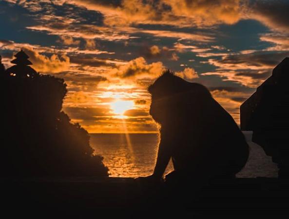 Sunset in Uluwatu Cliff Bali