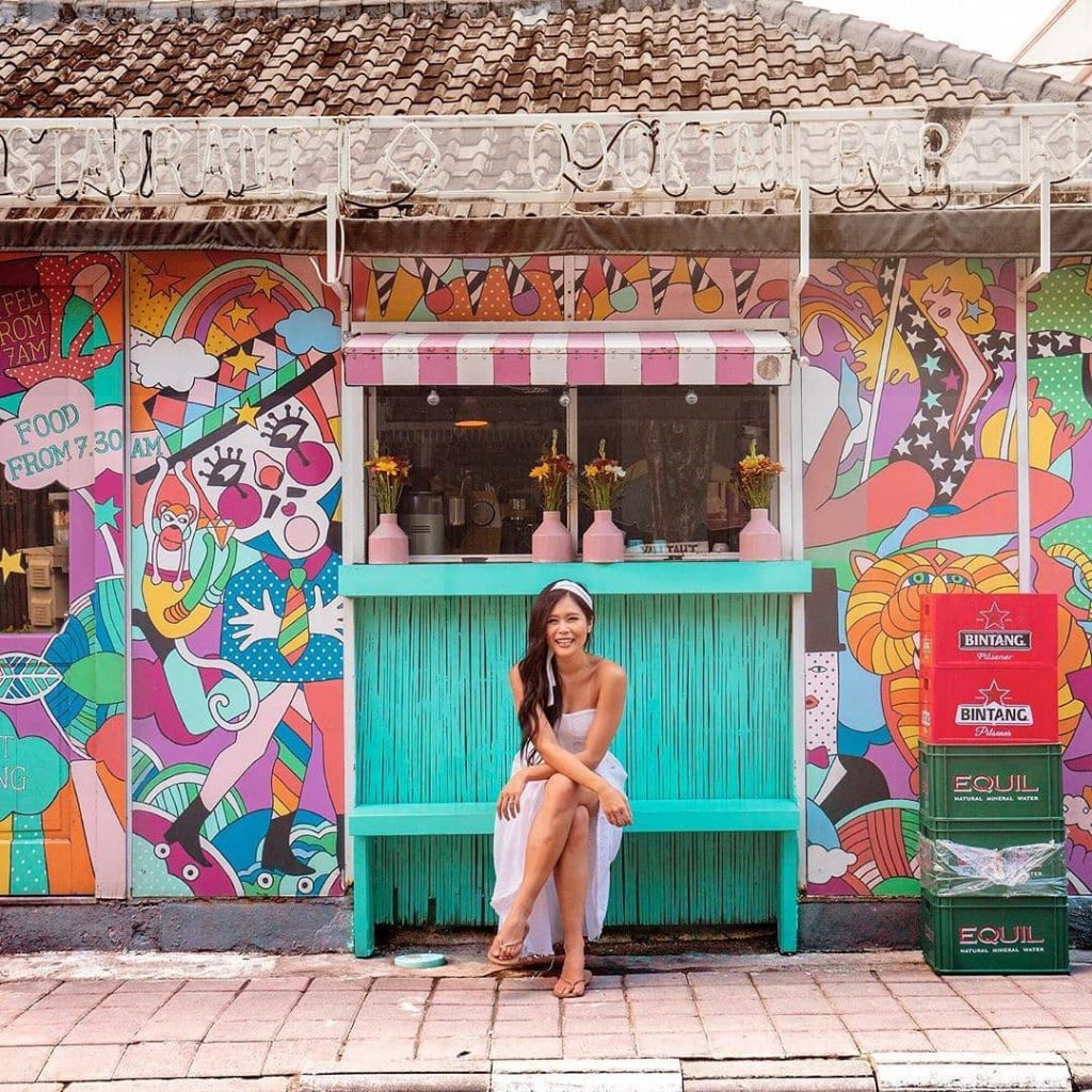 cafe seminyak; @anniesbucketlist at the front of @seacircus