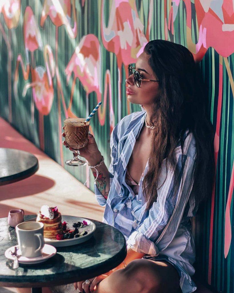 cafe seminyak; @vikasmirnova_hair at @neonpalmsbali